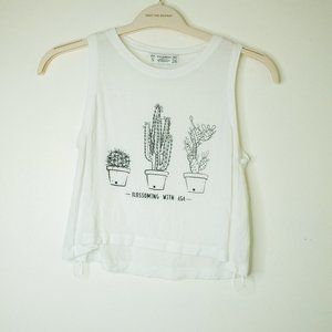 Cactus crop top Blossoming with age
